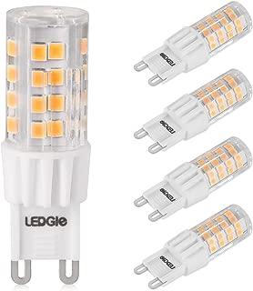 LEDGLE 6W G9 Bombillas LED, Equivalente a Halógeno de 60W, 51 LEDs, 380lm Blanco Cálido 3000K, Sin Parpadeo, No Regulable, Ángulo de Luz de 360°, Pack de 5 Unidades
