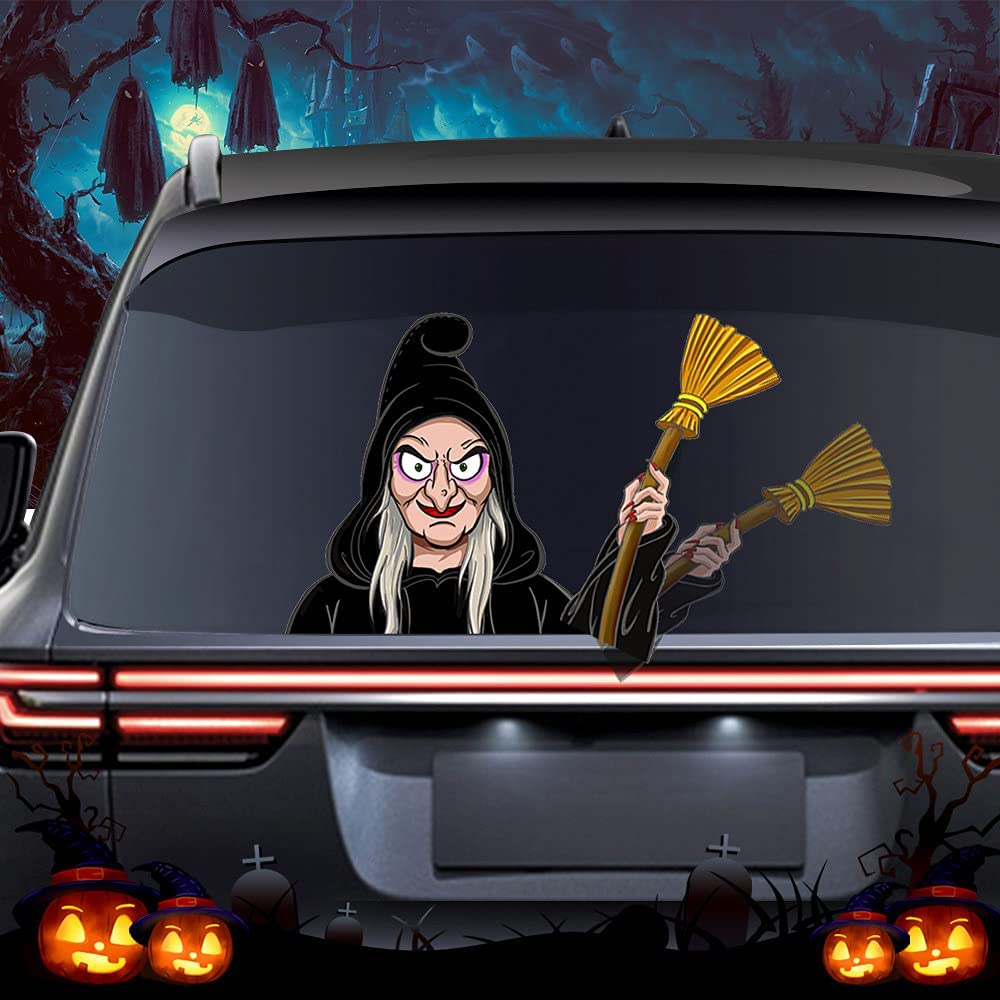 wipersigns Cartoon Halloween Decor Witch Stickers Financial Reservation sales sale Wiper Cars for