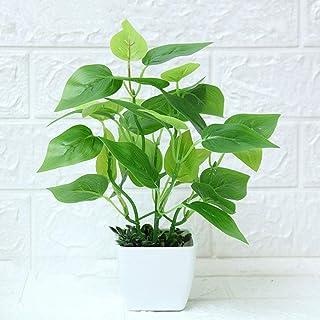 Arbeflo 鉢植え造花 人工観葉植物 インテリア 飾り 人工 フェイク グリーン 植物 (3)