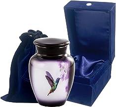 Immortal Memories Hummingbird Keepsake Urn, Hummingbird Mini Urn for Ashes, Hand Painted Token Urn, Handmade Minature Urn ...