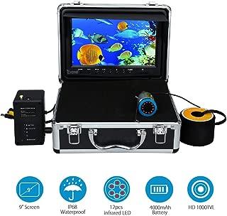 Eyoyo 9 inch Fish Finder Underwater Fishing Camera 50M 1000TVL CAM Infrared IR LED Lights w/Remote Control