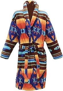 Women's Los Alamos Robe - Native American Print Bath Robe
