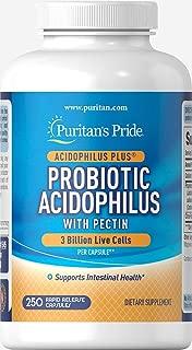 Puritan's Pride Probiotic Acidophilus with Pectin-250 Capsules, 250Count