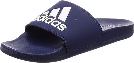 Adidas Adilette Cloudfoam Plus Logo Slides for Men, Blue, 42 EU
