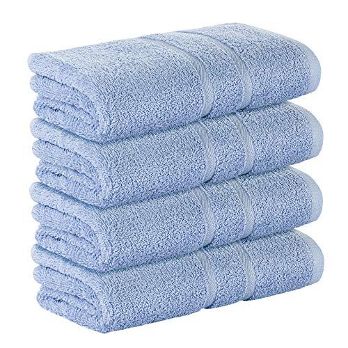 StickandShine 4er Set Premium Frottee Handtuch 50x100 cm in hellblau in 500g/m² aus 100{abeeaacc0e136d1e6d46edc7d9cef248d314f3e1dd6b26740ed20aa44414ad9c} Baumwolle