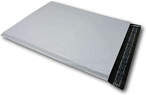 Lot de 50 Enveloppes plastique blanches opaques A3 350 x 450 mm,pochettes d'expédition 35x45 cm 60 microns. Enveloppe...