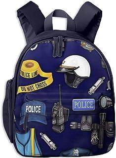 Mochilas Infantiles, Bolsa Mochila Niño Mochila Bebe Guarderia Mochila Escolar con Departamento de Policia para Niños de 3 A 6 Años de Edad