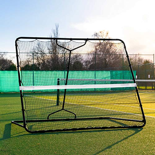 Net World Sports RapidFire Mega Tennis Rebounder | Groundstroke amp Volleying Practice Small Or Large Large 7ft x 8ft