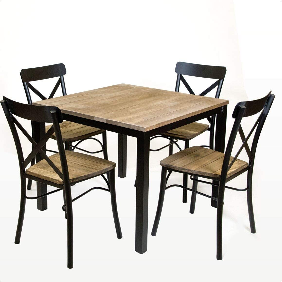 Standard Square Vintage Solid Wood Max 87% OFF famous Top Table Dining Table: Yes