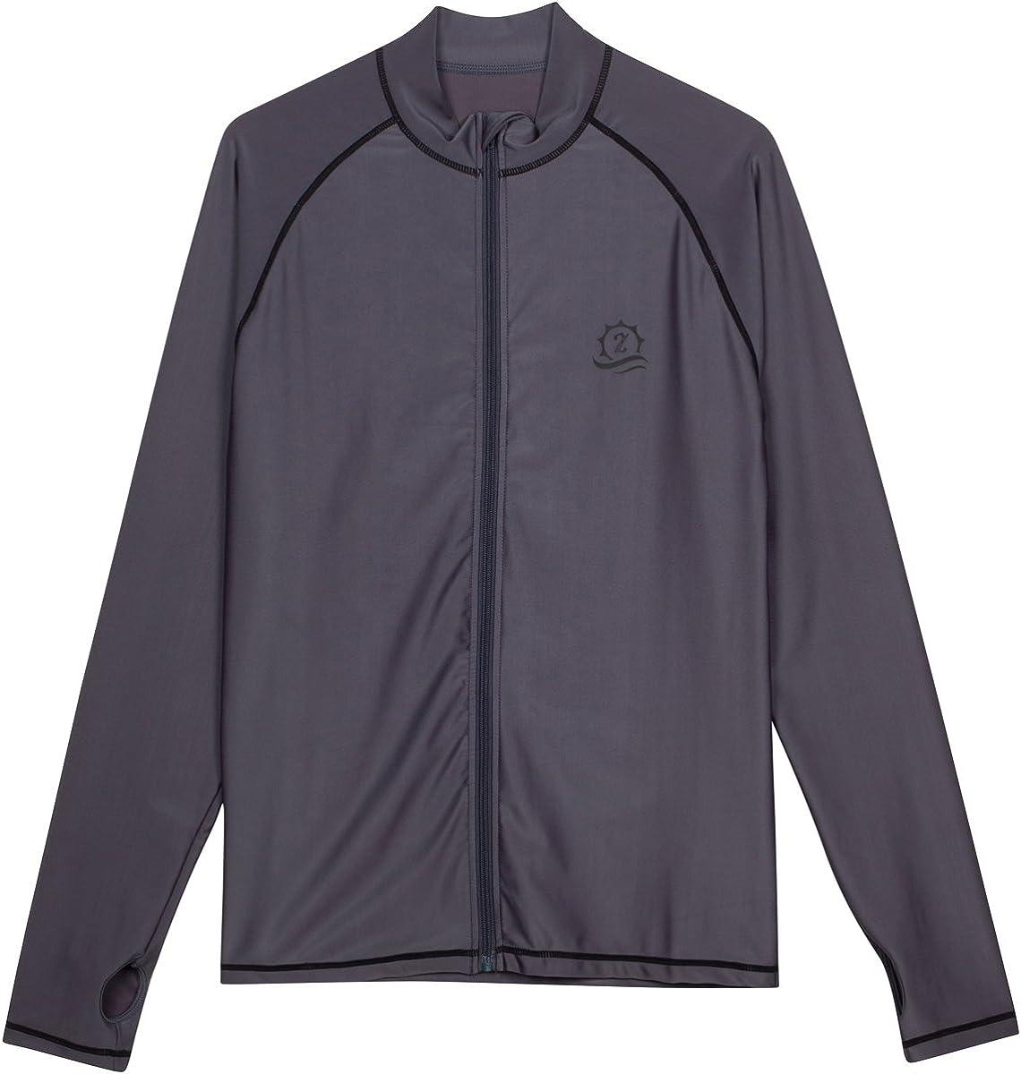 SwimZip Men's Long Sleeve Zipper Rash Multiple 2021 spring and summer new Industry No. 1 Guard 50+ Co UPF