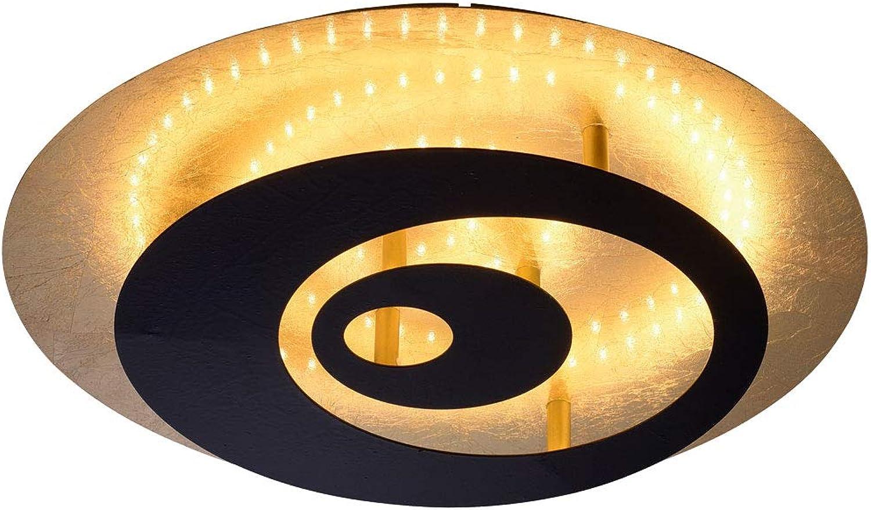 LED Design Decken Lampe Wohn Zimmer Beleuchtung DIMMER Leuchte schwarz Gold Paul Neuhaus 7042-18