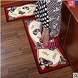 MU Tappetini da Cucina, Lunghe Strisce di tappeti Ikea assorbenti Antiscivolo, zerbini, Porte per Accesso Domestico, tappetini antiusura,C,50 * 150CM