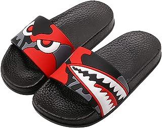 Boys Girls Summer Sandals, Anti-Slip Slide Lightweight Beach Water Shoes Shower Pool Home Unicorn Slippers for Toddler Little Kids