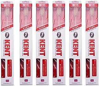 【6本セット】KENT 豚毛歯ブラシ KNT-9833 コンパクトヘッド かため