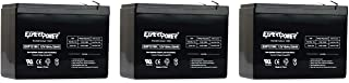 3 X Pack EXP12100 12v, 10Ah Universal Sealed Lead Acid Replacement Battery