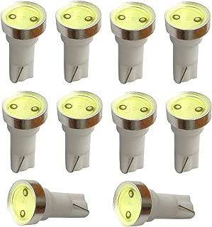AERZETIX 10 x Bombillas T5 12V LED HIGH POWER 1W para salpicadero Luz verde