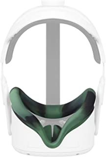 Esimen VR Face Silicone Mask Pad & Face Cover for Oculus Quest 2 Face Cushion Cover Sweatproof (Camouflage)