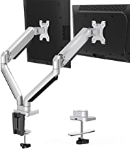 MOUNTUP Dual Monitor Stand Mount- 2 Monitor Arm Desk Mount with Gas Spring, Computer Monitor Stand fits 2 Screen up to 32 ...