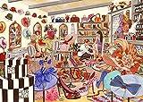ggggx 1000 Piezas de Rompecabezas para Adultos y Adolescentes, Juegos desafiantes en Tiendas de Ropa de Moda, Rompecabezas de Madera de Arte Moderno 52 * 38 cm