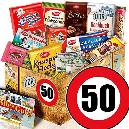 Geschenk zum 50. Geburtstag - DDR Set Schokolade - Geburtstag 50