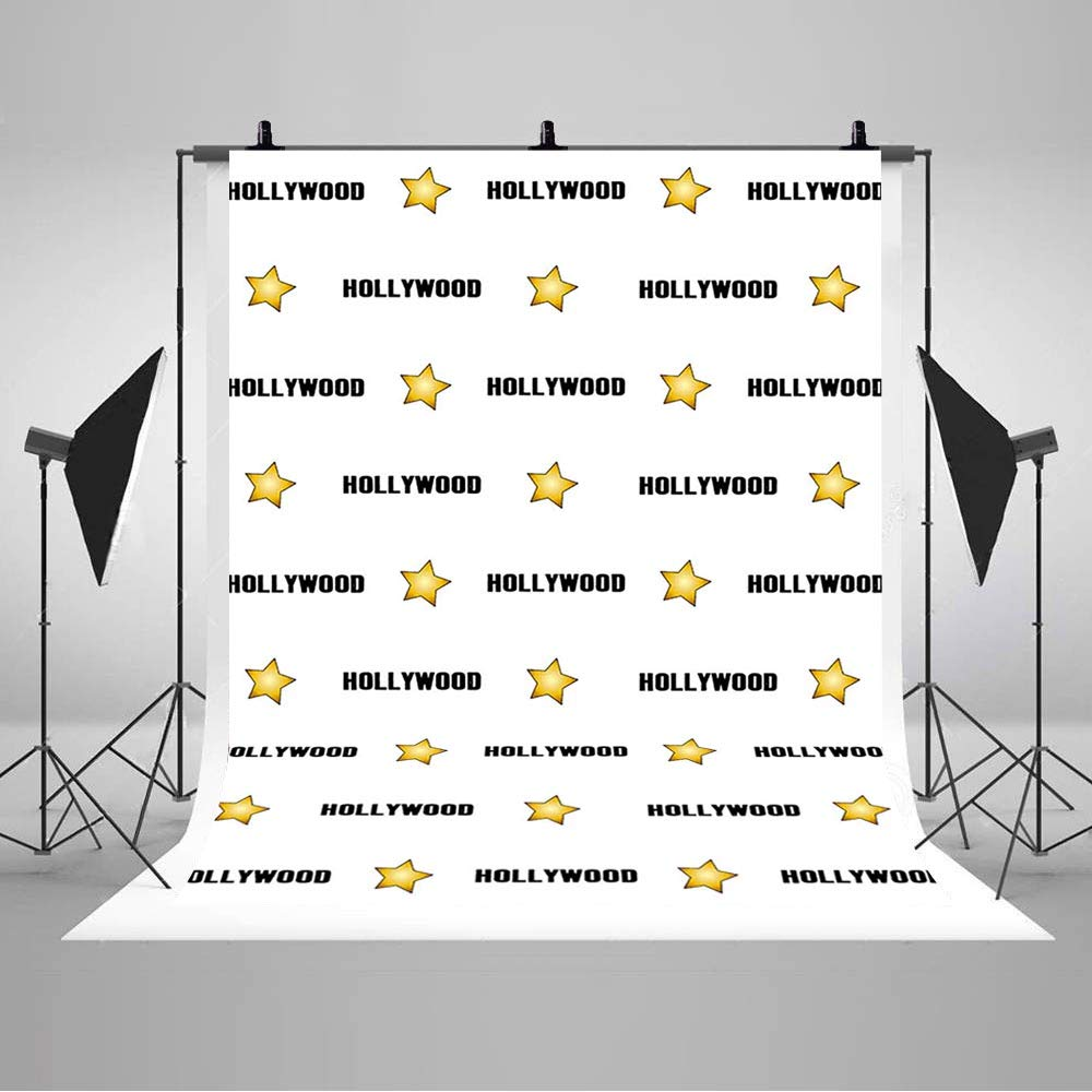 Amazon Com Comophoto Hollywood Star Backdrop For Red Carpet Events Step And Repeat Celebrity Birthday Banner Photography Party Decorations Photo Booth Background Studio 5x7ft Camera Photo