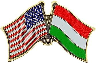 """INTERNATIONAL USA Cross Flags - Original Artwork, Expertly Designed PIN - 1.125"""""""