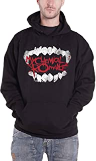 Hoodie Fangs Band Logo Official Mens Black Pullover