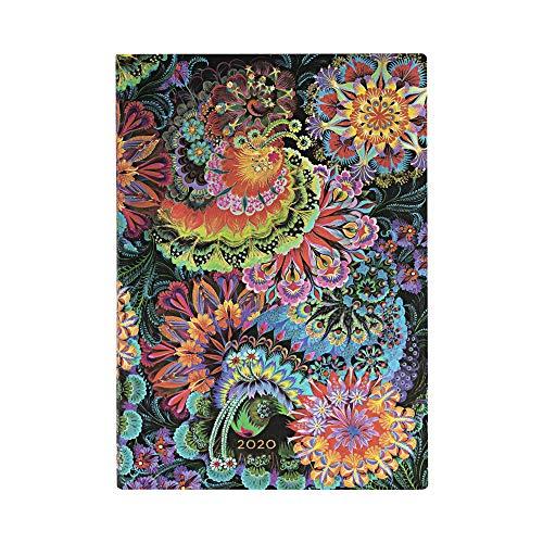 Paperblanks 12 Monate Softcover Flexis-Kalender 2020 Mondlicht | Horizontal | Midi (130 × 180 mm)