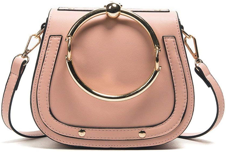 Umschlag-Clutch, Neue einfache einfache einfache beiläufige Handtasche Schulter Messenger Bag Ring Satteltasche Handtasche (Farbe   Rosa, Größe   Einheitsgröße) B07QRRS4BW e22ee9