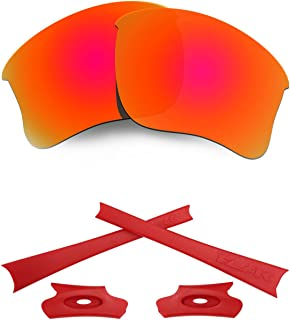 HKUCO For Oakley Flak Jacket XLJ Mens Replacement Lenses Earsocks Rubber Kit