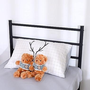 """Aiboria Cadre de lit en métal de 35 x 74"""" - Base du matelas facile à monter - Lattes en acier haute performance - Antidér"""