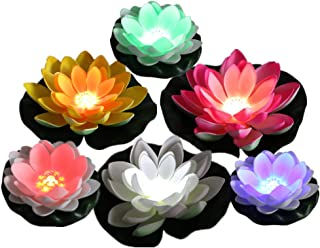 Acmee Color Changing LED Light up Floating Lily pad, Water Floating LED Lily Light, Lotus Light illuminates centerpieces, Ponds, Pools or Fish Tank