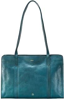 Maxwell Scott Bags, Borsa a spalla donna Marrone Cognac Braun One Size, Verde (nero), Taglia unica