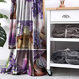 FOEYESEE Blanket Lavender Garden Alike Themed Relaxing Candles Stones and Herbal Salt Image Purple and White Bedroom Dorm Sofa Nursery Crate W63 xL63