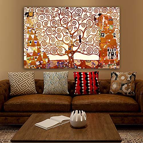 Tree of Life Canvas Painting Wall Art Prints Posters Pintura abstracta clásica sobre lienzo para sala de estar A 60x95cm