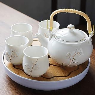 TNSYGSB 6pcs Main Porcelaine Glaze Color Tea Ensemble Zen Tea Health Teaset Grande Capacité Théière Teabot Teach Coffee Po...