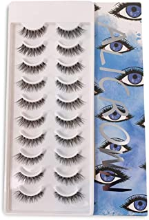 ALICROWN False Eyelashes Natural Lashes BLUE (10 Pairs)