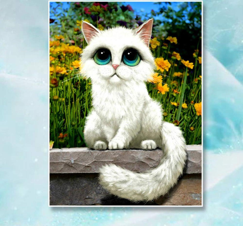 venta mundialmente famosa en línea XIGZI 5D Diamante Pintura Pintura Pintura Gato Animal Diamante Bordado Punto de Cruz Resina Taladro Sala de EEstrella Pintura Decorativa Sin Marco  cómodamente
