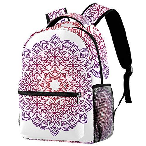 Backpack Oriental Mandala School Bag Rucksack Travel Casual Daypack for Women Teen Girls Boys