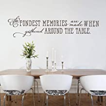 Fifikoj Wall Sticker Kitchen Wall Decor Dining Room Wall Decal The fondest Memories are Made When Gathered Around The Table Family Quote Decal 88x31cm