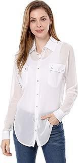 Best sheer button up shirt Reviews