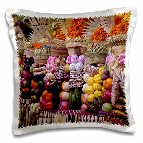 Danita Delimont - Jaynes Gallery - Temples - Indonesia, Bali, Bedulu. Offerings at Pura Samuan Tiga temple. - 16x16 inch Pillow Case (pc_188312_1)