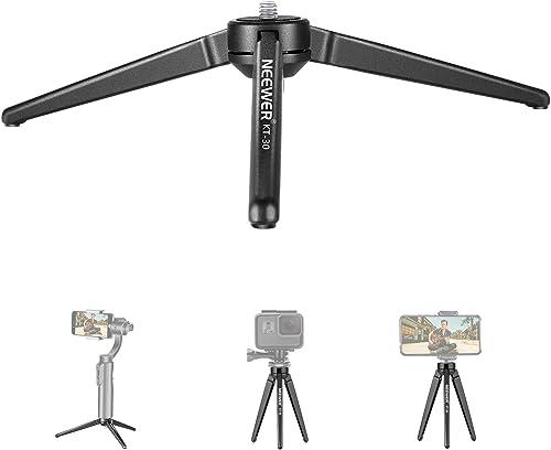 Neewer Metal Mini Tripod,Desktop Tabletop Stand Tripod for V5,Smooth 4,Crane Plus,Crane 2,OM 4,Osmo Mobile,Ronin-S,Vi...