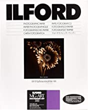 "Ilford Multigrade Art 300, Variable Contrast, Black and White Matte Surfaced Fiber Based Photo Paper on a Textured Fine Art Base, 5x7"", 50 Sheets"