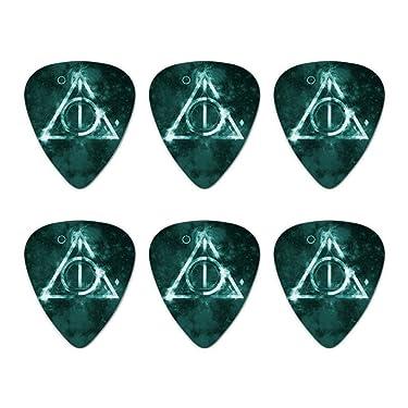 Harry Potter Deathly Hallows Logo Novelty Guitar Picks Medium Gauge - Set of 6