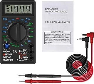 HELYZQ Multímetro digital amperímetro CC 10 V ~ 1000 V CA 750 V testador de corrente