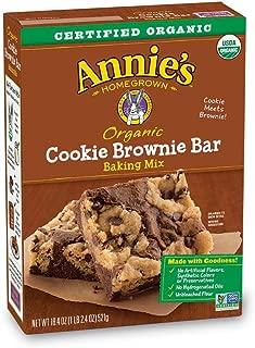 Annie's Organic Cookie Brownie Bar Baking Mix, 16 Bars, 18.4oz Box
