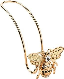 Lunna Queen Bee Embellished With Swarovski Crystals Rose Gold Bag Hook  - Pack of 1