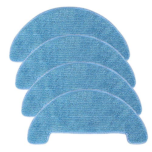 SOFOXYI 4PCS Replacement Mop Cloths for Coredy R500,R550(R500+),R750 Robot Vacuum Mopping Cleaning Cloths Accessories