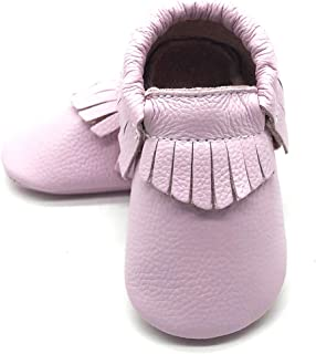 pink baby moccasins